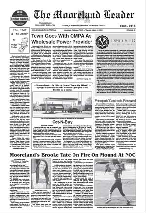 The Mooreland Leader Page 1